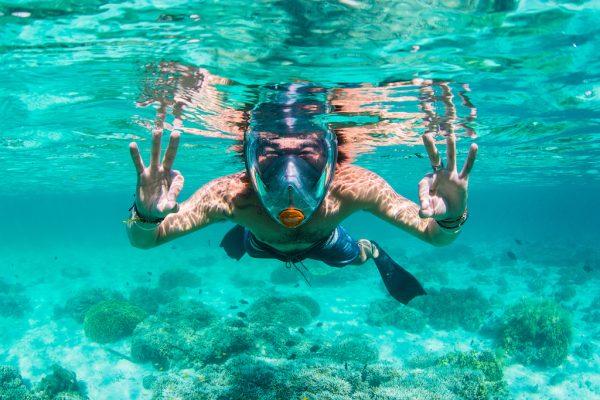 full face snorkel set happy