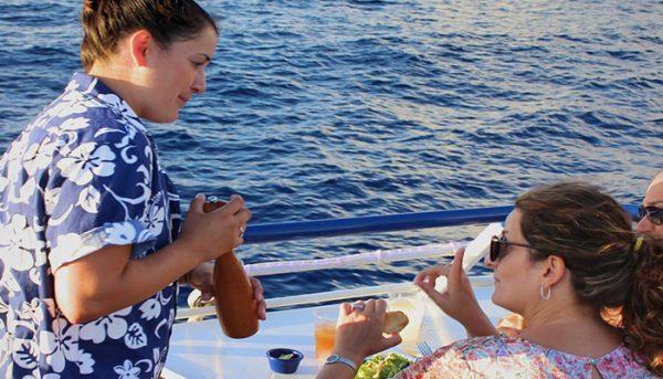 calypso sunset dinner cruise waiter