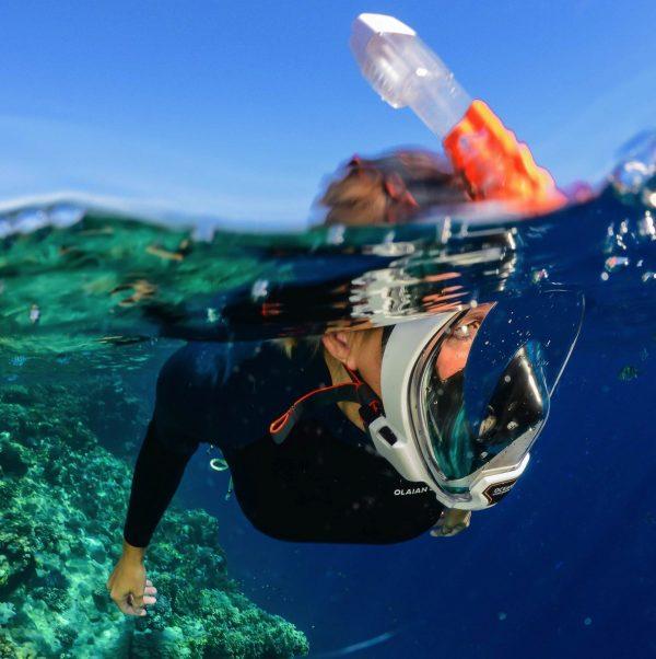 full face snorkel set renter in kihei