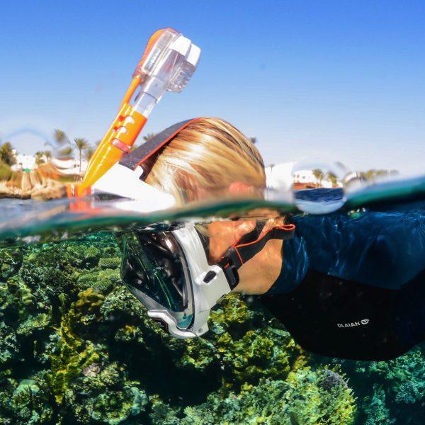 full face snorkel gear in kihei