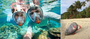 full face snorkel mask rentals kihei